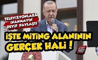 Erdoğan'ın Maraş Mitinginde Olay Fotoğraf