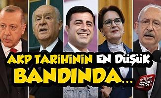 AKP Tarihinin En Düşük Bandında, Bomba Rakamlar!