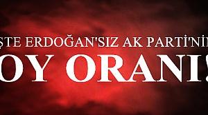 İŞTE ERDOĞAN'SIZ AK PARTİ'NİN OY ORANI!