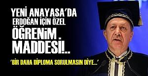 DİPLOMA SORUNU DA YENİ ANAYASA'DA...