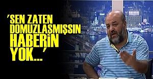 'GIRTLAĞINA KADAR DOMUZLAŞMIŞSSIN HABERİN YOK'