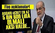 KARAMOLLAOĞLU'NDAN FLAŞ AÇIKLAMALAR!