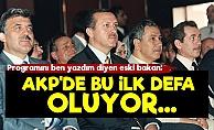 'AKP'de İlk Kez Yaşanıyor...'