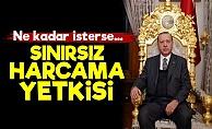 Erdoğan'a Sınırsız Harcama Yetkisi Verildi!