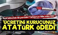 Çin'den Korona Test Jesti! 'Ücretini Atatürk Ödedi'