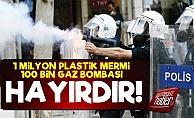 Polise 1 Milyon Mermi, 100 Bin Gaz Bombası!