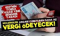 Pes! Holdingler Asgari Ücretliden Az Vergi Ödeyecek