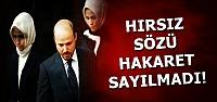 HIRSIZ SÖZÜ HAKARET SAYILMADI...