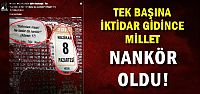 MİLLETE 'NANKÖR' DEDİLER...